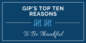 OUR TOP TEN REASONS TO BE THANKFUL - 2019